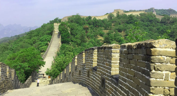 grande muraille de Mutianyu au printemps