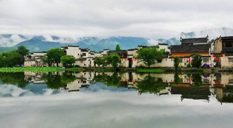 village de Hongcun au printemps
