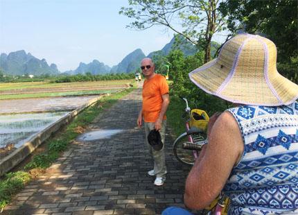 cicilismo en el campo de Yangshuo