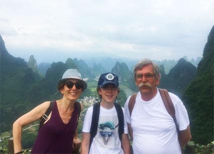 Voyageur dans la Colline Xianggongshan