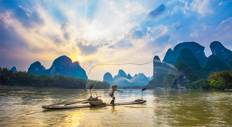 pêche à Guilin