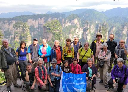 voyageurs au parc Zhangjiajie