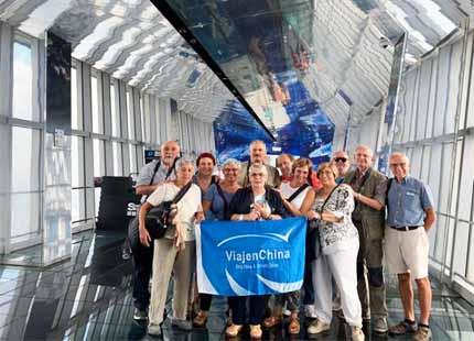 voyageurs à tour de Jinmao Shanghai