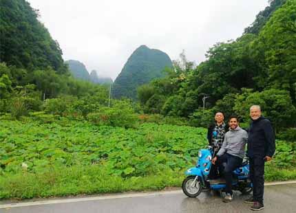 cicilismo en Yangshuo