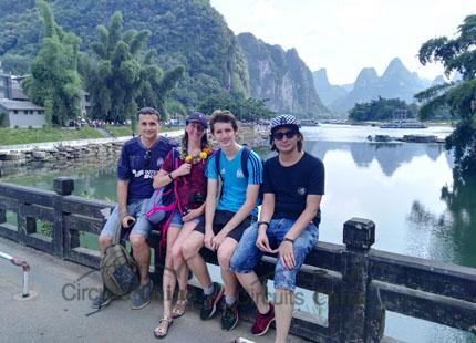 voyageurs à Xingping