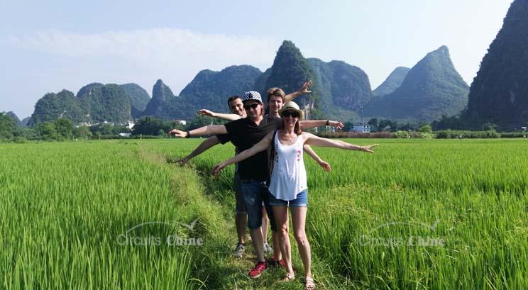 visiter la campagne à Yangshuo