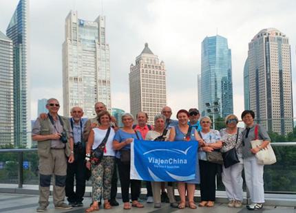voyageurs à Shanghai Pudong