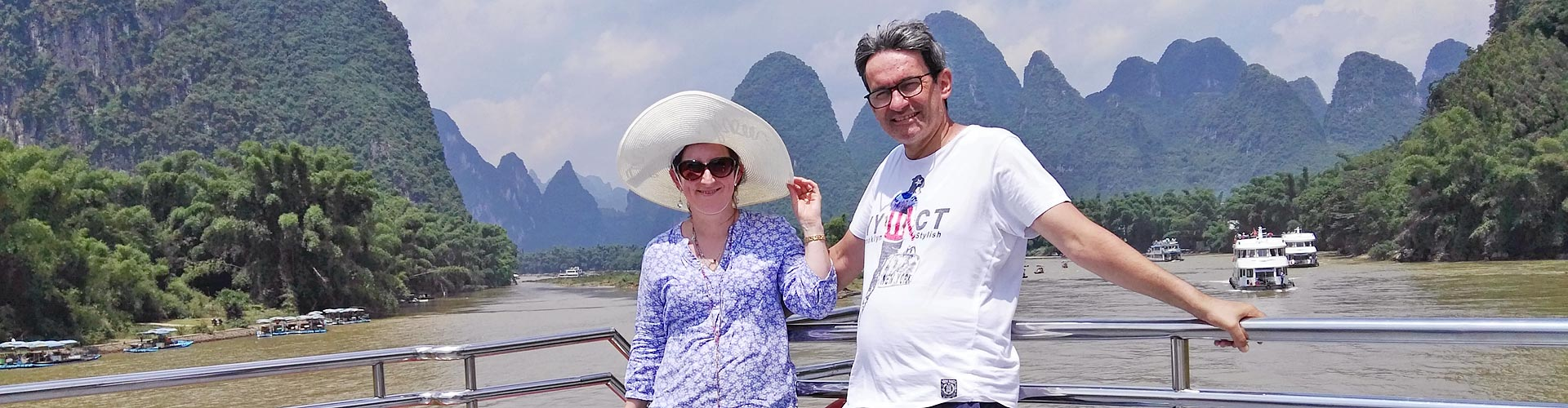 voyageur pendant la croisière  sur la rivière Li