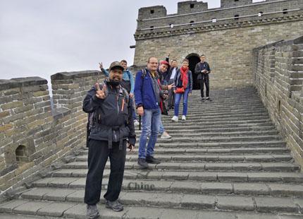 voyageurs sur la grande muraille