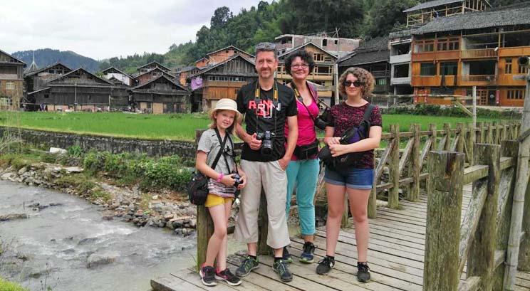 voyageurs à Zhaoxing