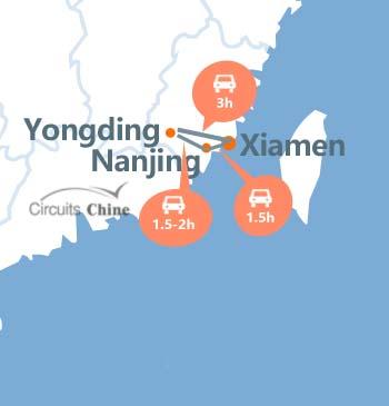 carte du voyage tulou Xiamen