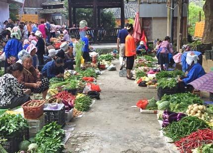 marché à Congjiang