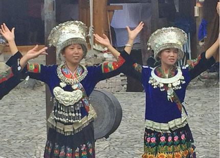 ethnie Miao dans le vilage Miao de Langde