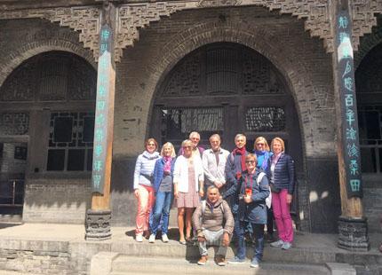 voyageurs dans la résidence de famille Wang