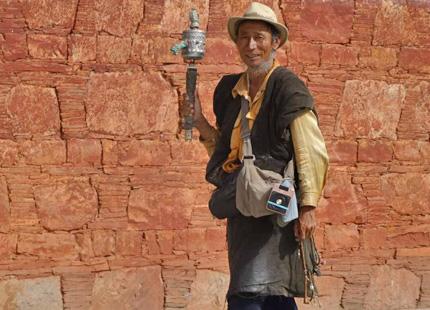 pèlerin au Tibet