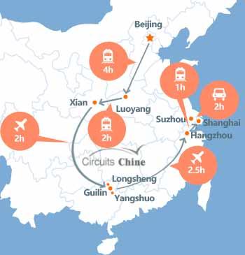 viaje de beijing-luoyang-xian-guilin-shanghai-hangzhou