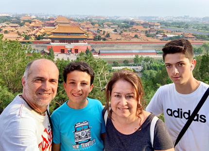 Panoramic view of Forbidden City