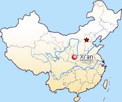 carte de location de Xian