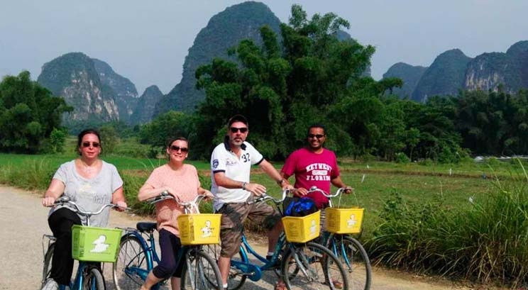 voyageurs à Yangshuo