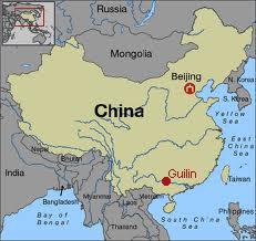 carte de localisaton de Guilin