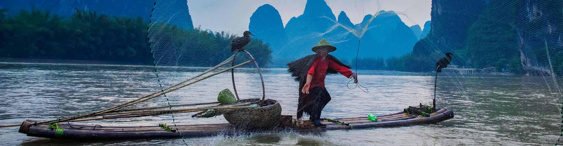 pêche sur la rivière Li