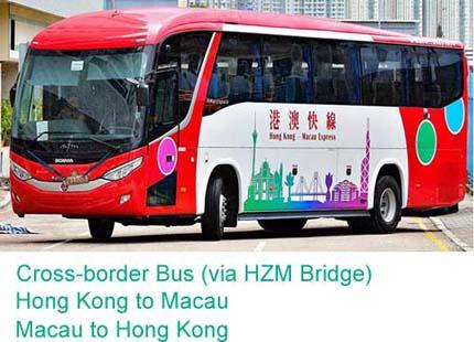 Bus transfrontalier de Macao à Hong Kong (via pont Hong Kong - Zhuhai - Macao)