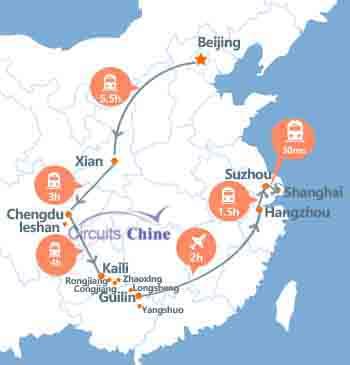 Voyage Pékin - Xian -Chengdu - Leshan - Kaili- Zhaoxing -Longsheng -Guilin -Yangshuo -  Hangzhou- Suzhou - Shanghai en 21 jours