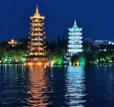 pagode du soleil et pagode de la lune