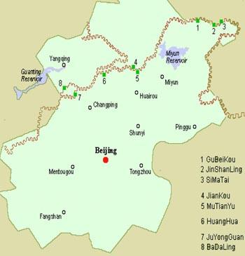mapa de la gran muralla
