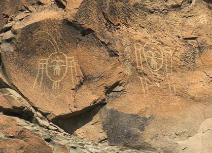 gravures rupestres dans des monts Helanshan à Yinhchuan